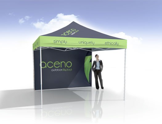 3x3 Pop Up Marquee with wall
