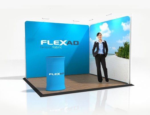 3m x 3m Trade Show Corner Booth