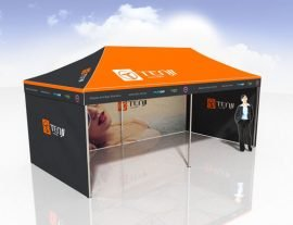 6x3 Pop Up Marquee incl back and 2 side walls