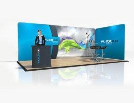 6m x 3m Trade Show Corner Booth