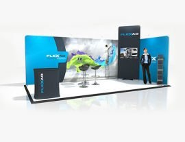 6m x 3m Corner Exhibition Stand with TV Monitor