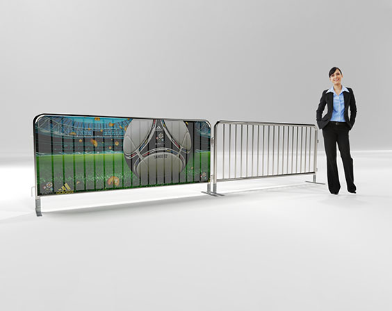 Crowd Control Mesh Banners