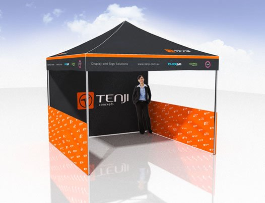 3x3 Pop Up Marquee with half side walls