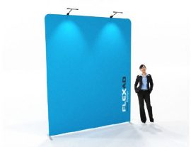 2.4m x 3m high Straight Fabric Exhibition Wall