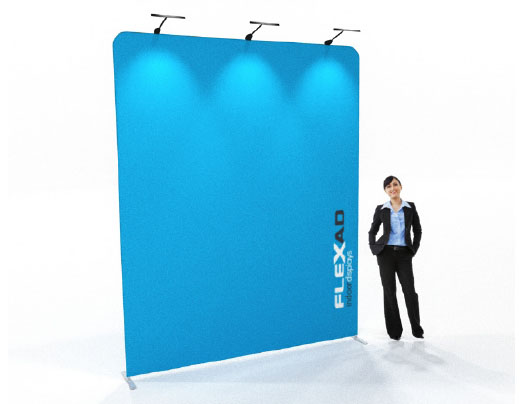 3m x 3m high Straight Tension Fabric Wall