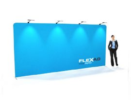 5m straight tension fabric wall