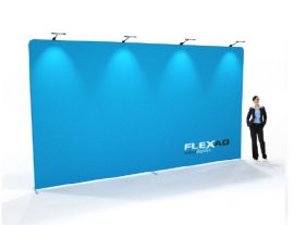 6m x 3m high straight tension fabric wall