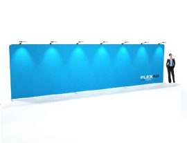 9m straight tension fabric wall