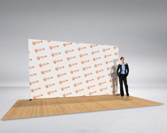 4m straight media wall