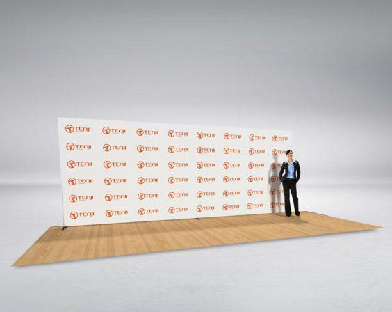 6m straight media wall