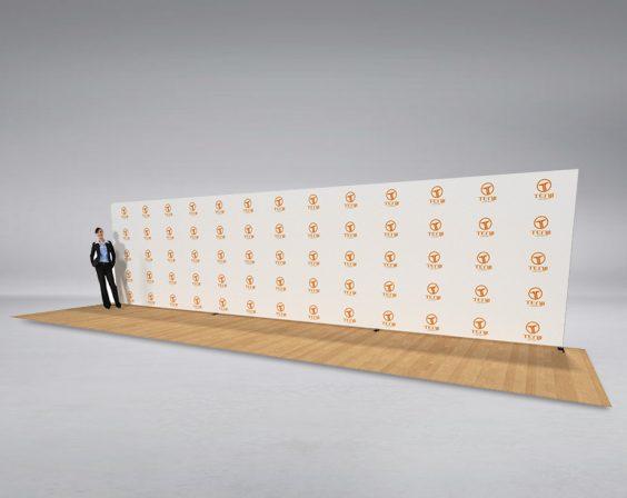 9m straight media wall