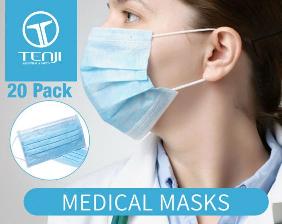 Disposable Surgical Face Masks 20 pack