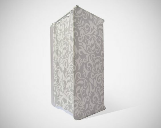 Portable Dressing Room - Grey and White Pattern print