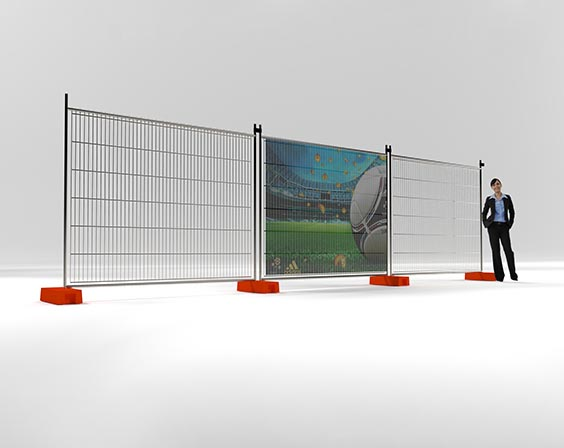 Mesh Vinyl Temporary Fencing Banners